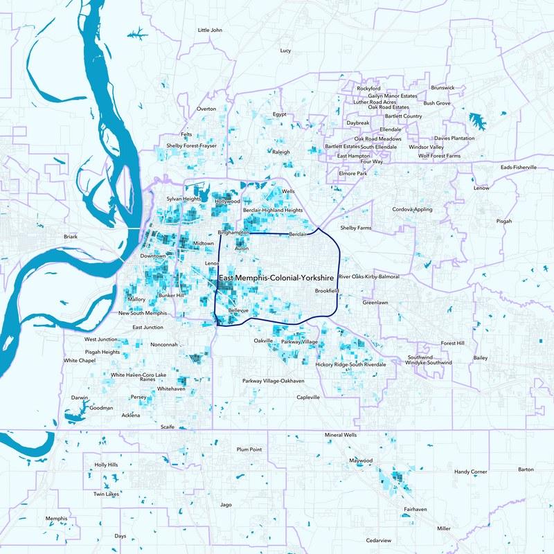 East Memphis-Colonial-Yorkshire, Memphis TN - Neighborhood